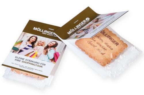 Bedruckter Vanille-Butterkeks mit Faltkarte